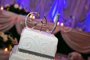personalized wedding cake