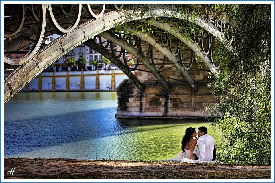 Wedding photo session in Seville Spain