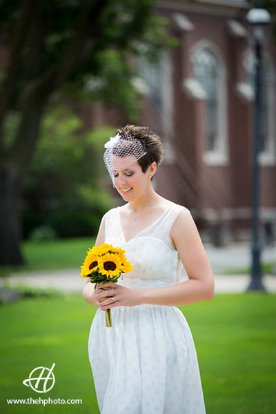 bride portrait in park