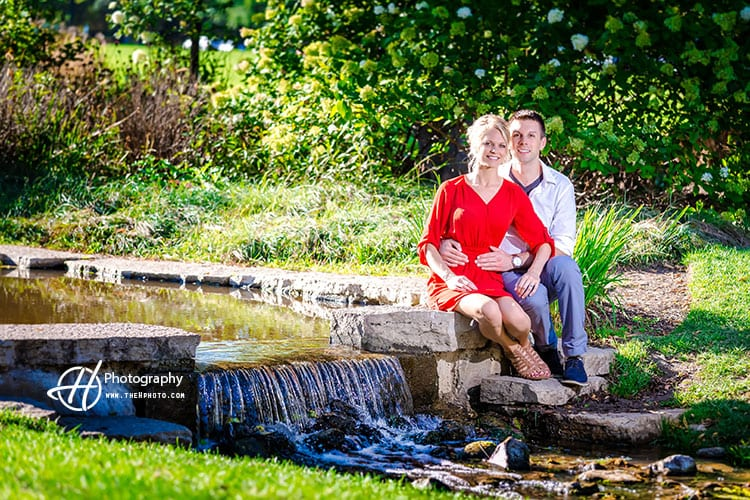 engagement-by-water-fall
