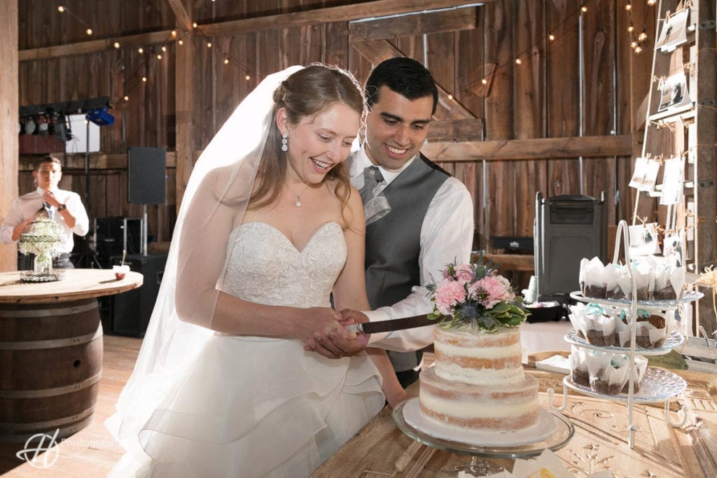 cake cutting at Over the Vine