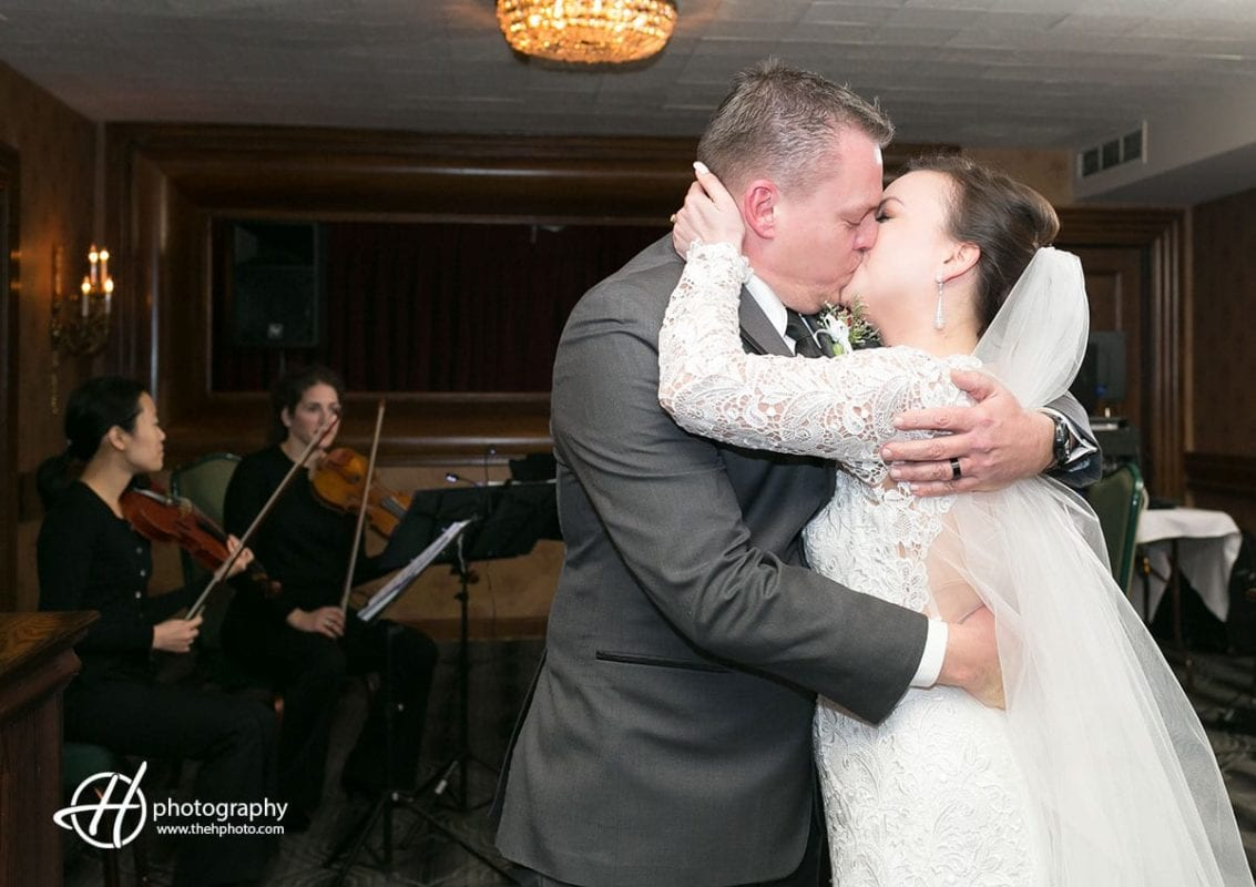 kissing the bride