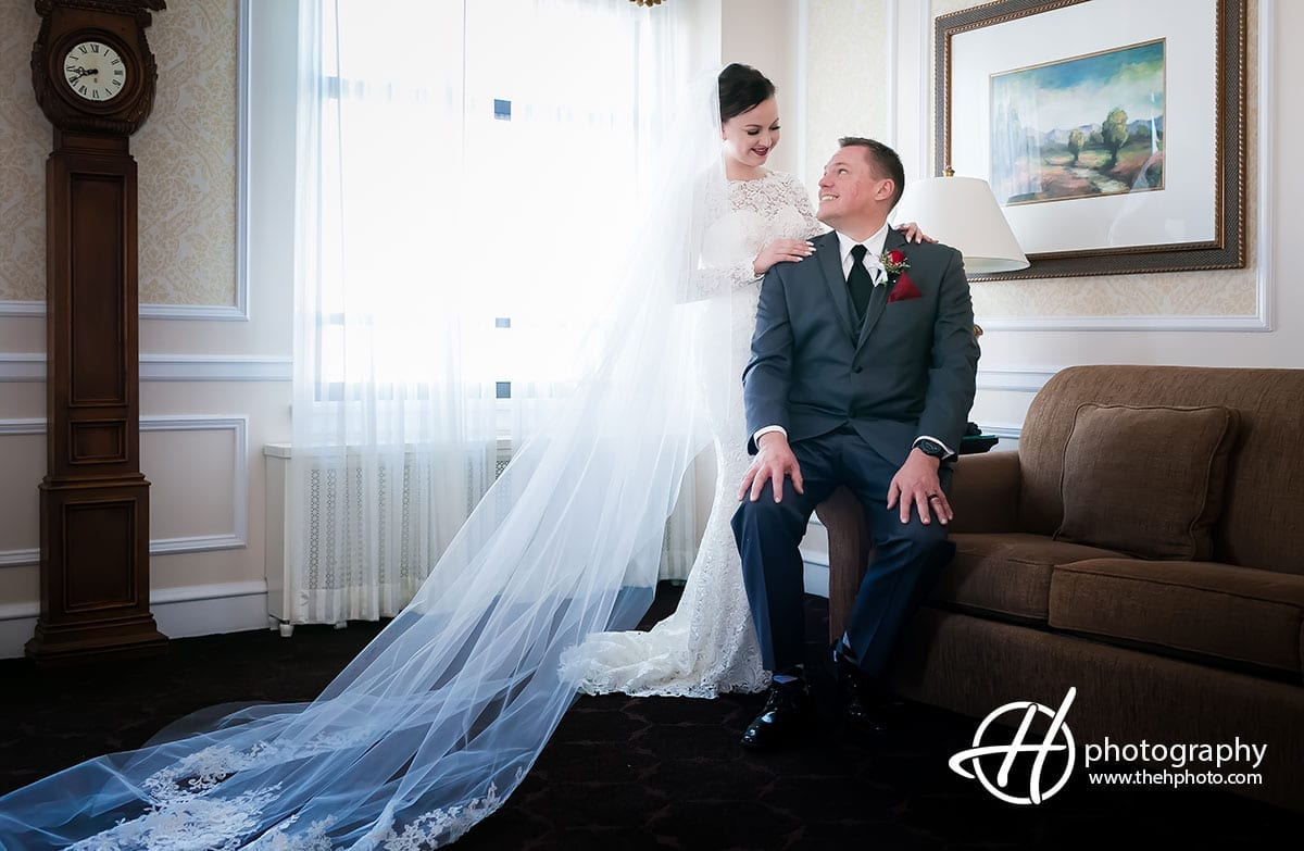 Drake Hotel Room bridal portrait