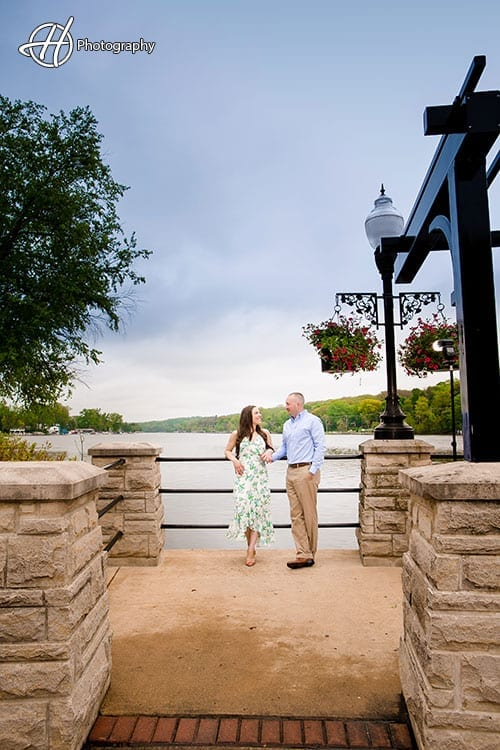 Nicole and Nate by the Fox River