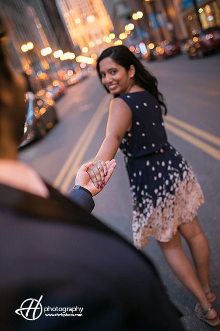 engagement on the street